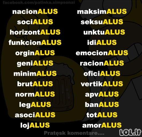 Houmerio Simpsono žodynas