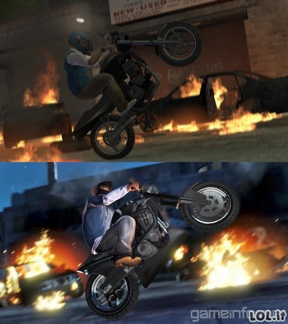 GTA IV ir GTA V skirtumai