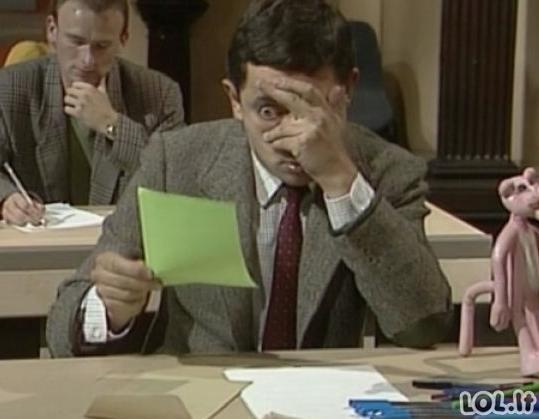 Kaip žmonės elgiasi atėjus egzaminų metui