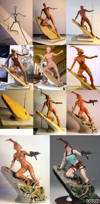 Kaip pasidaryti Laros Kroft statulėlę