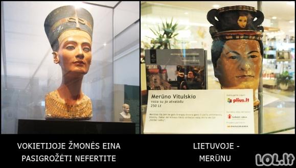 Nefertitė transformavosi į Merūną