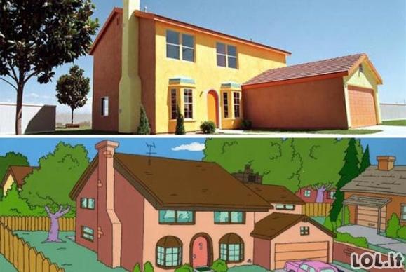 Simpsonų namas realybėje