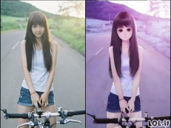 Anime merginos realybėje