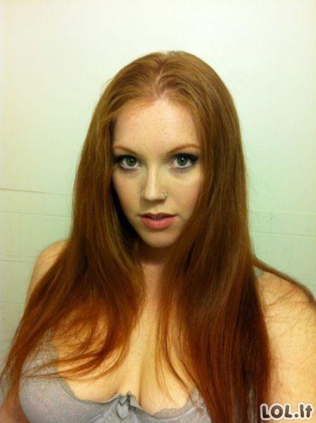 Labai labai gražios raudonplaukės merginos (71 foto)