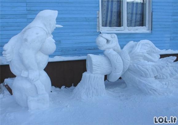 Dienos LOL'as: Žiauriai kieti sniego seniai