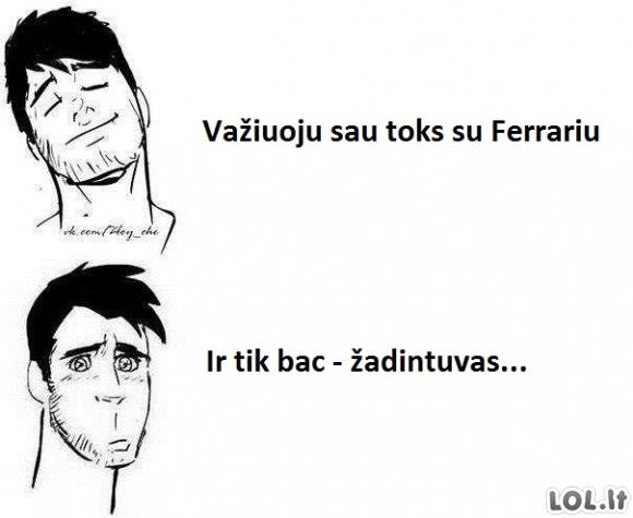 Pasivažinėjimas su Ferrariu