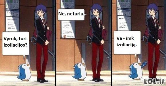 Pingvinas ir izoliacija