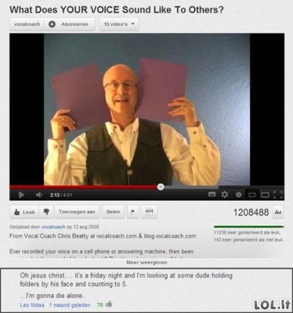 Youtube komentarų perliukai