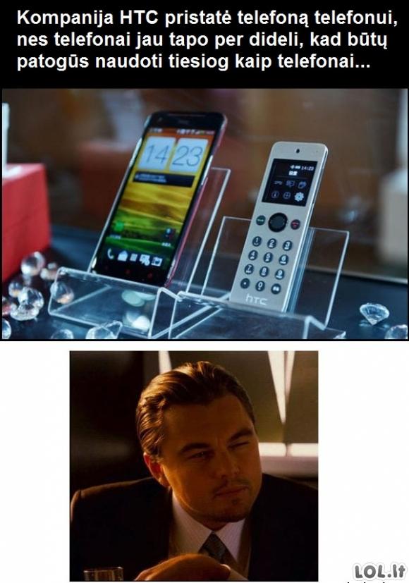 HTC, eik namo - tu girta.