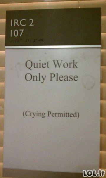 Kai darbas išties užknisa...