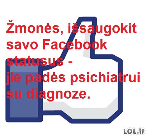 Kam reikalingi Facebook statusai