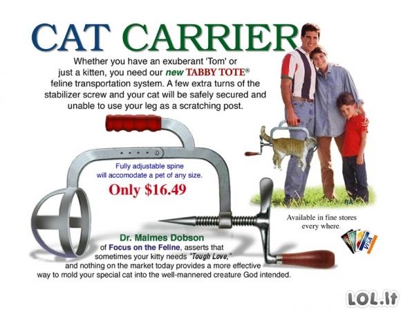 Kačių transportavimo įrenginys