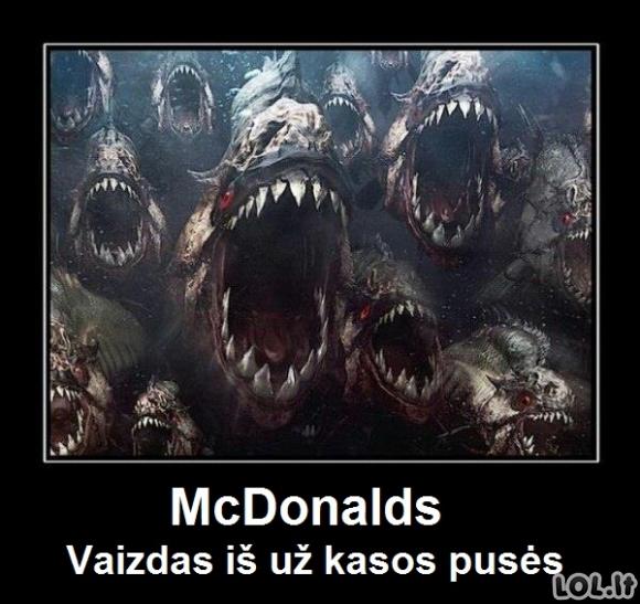 Tikrasis McDonalds'o vaizdas