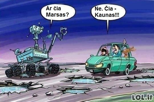 Kuo Kaunas skiriasi nuo Marso?
