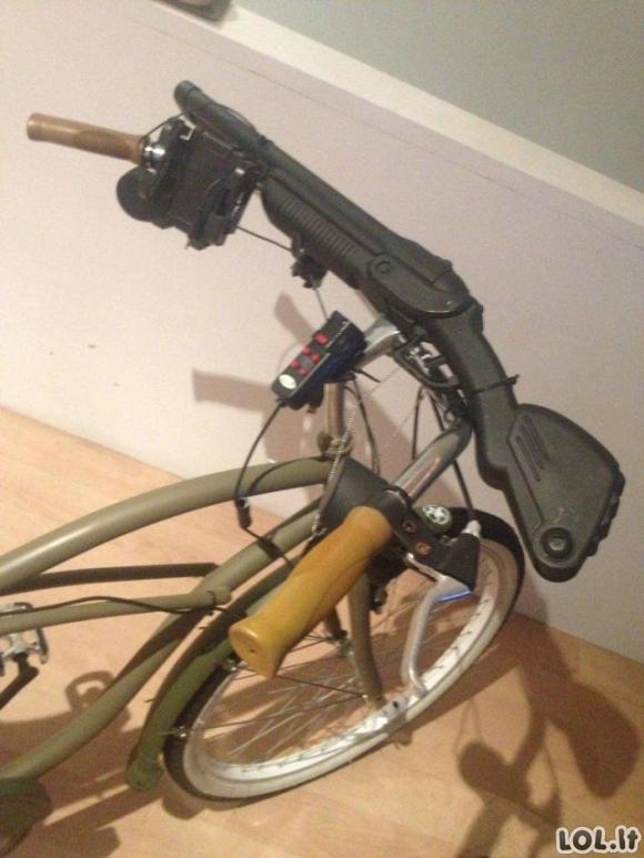 Zombių apokalipsės dviratis