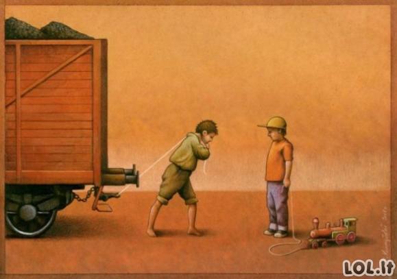 Protingai ironiški paveikslėliai