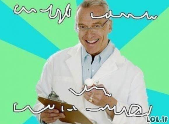 Pats geriausias gydytojų juokelis