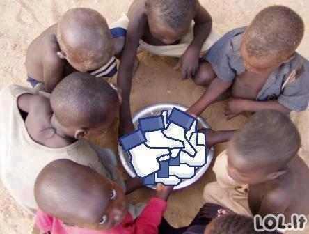 """Spausk """"Like"""", kad paremtum Afrikos vaikus"""