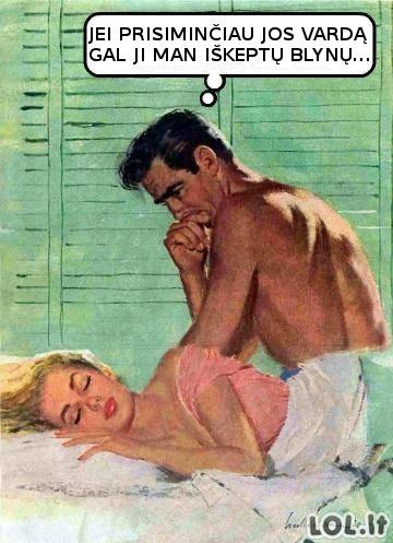 Rytas po nakties su mergina iš klubo