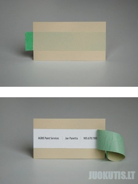 Neįprastos vizitinės kortelės