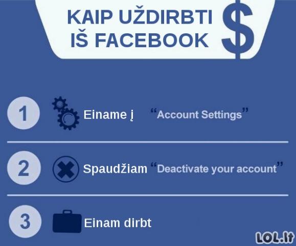"""Kalam pinigus iš """"Facebook"""""""