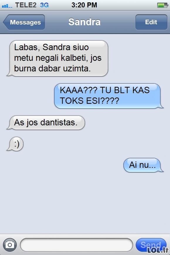 Blogai suprasta SMS kenkia jūsų sveikatai