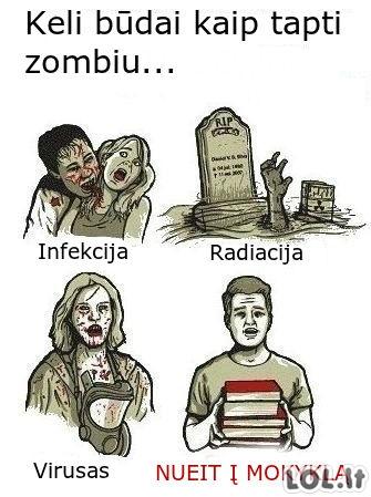 Kaip netapti zombiu