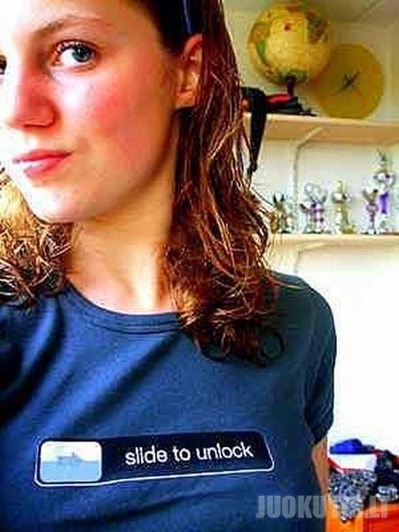 Iphone stiliaus marškinėliai