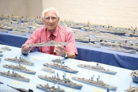 Laivų modeliukų kolekcija