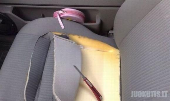 Pasidaryk pats:sėdynių ventiliacija