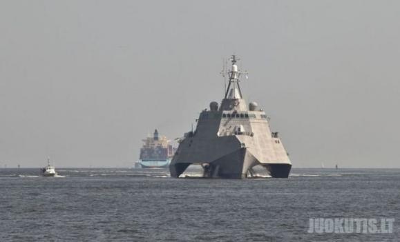 Naujausias JAV karinys laivas