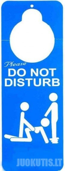 Netrukdykite!