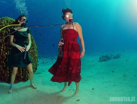 Povandeninės fotografijos: kaip tai daroma