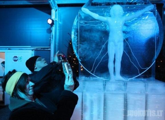 Fantastiškos ledo skulptūros (25 nuotraukos)