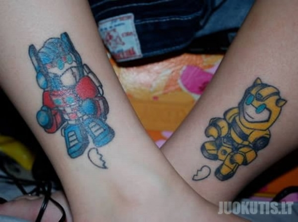 Tatuiruotės poroms (12 nuotraukų)