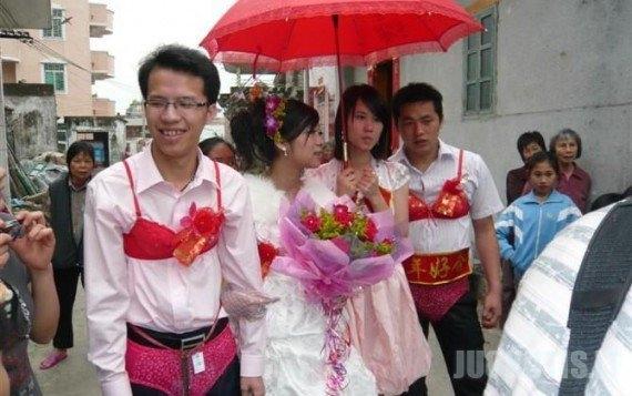 Kinijos vestuvės (7 nuotraukos)