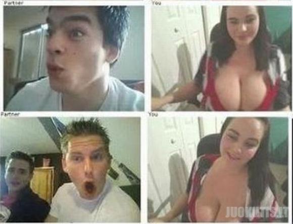 Vyrų reakcija į didelią moters krūtinę (16 nuotraukų)