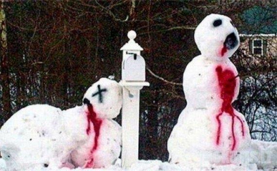 Darbeliai iš sniego (32 nuotraukos)