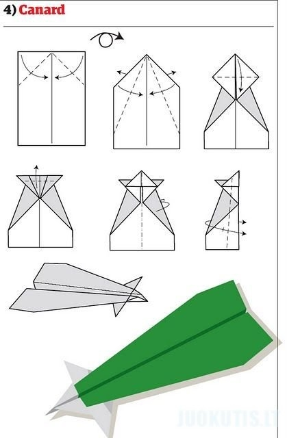 Popieriniai lėktuviukai įvairiais būdais