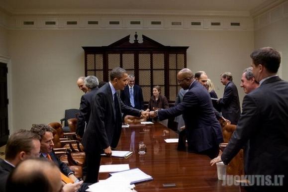 Firminis Baracko Obamos pasisveikinimas