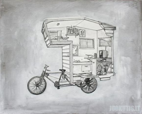 Namelis ant dviračio