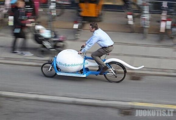 Komfortiška kelionė su spermos dviračiu