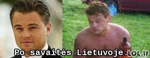 Leonardo Di Caprio atsikraustė į Lietuvą