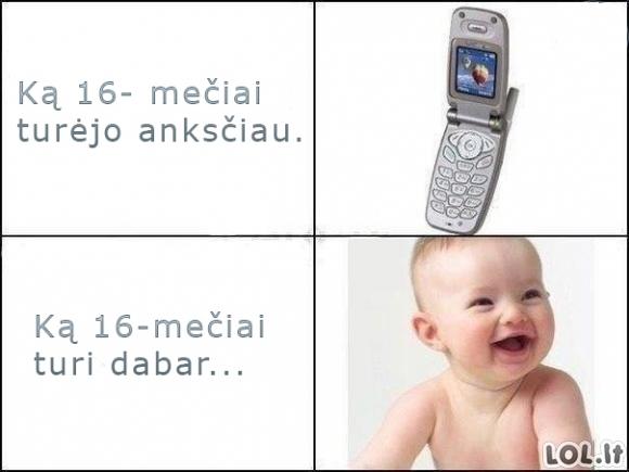 16-mečių evoliucija