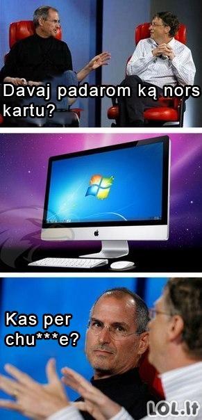 """Jei """"Apple"""" draugautų su """"Microsoft"""""""