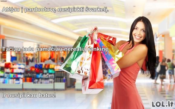 Apsipirkinėjančios moters logika