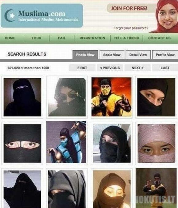 Įdomi anketa musulmoniškame pažinčių tinklapyje