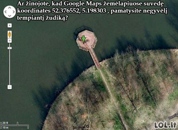 Šokiruojantis atradimas Google Maps