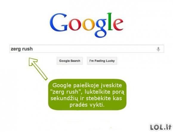 Slaptas Google žaidimas