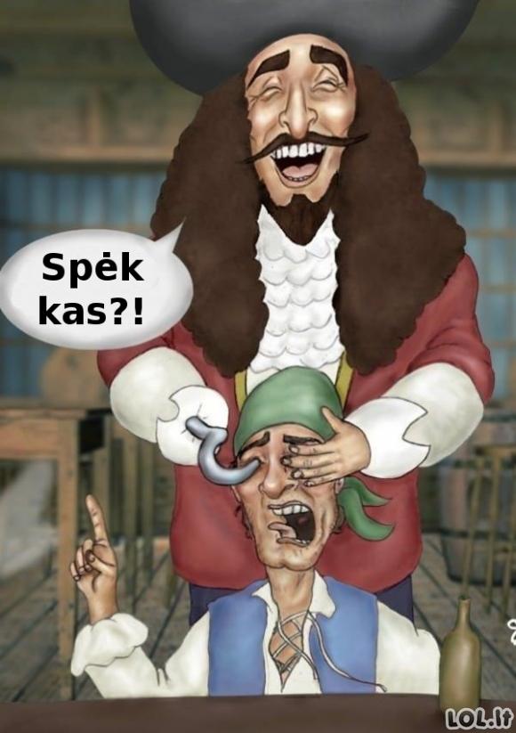 Kaip piratai praranda akis?